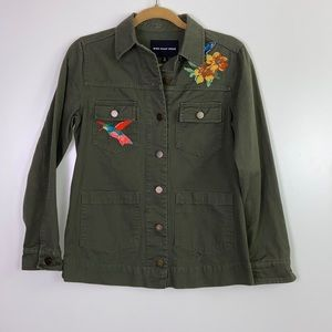 Who What Wear I Cargo Jacket W/ Bird Designs Small